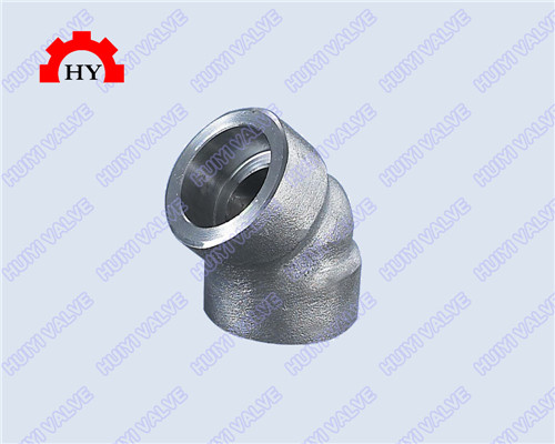 45 degree socket weld elbow